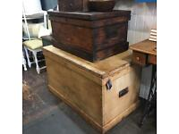 Antique Victorian blanket box