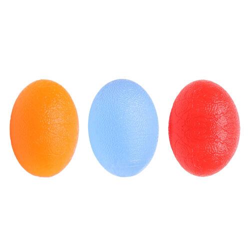 Egg Shaped Silicone Exercise Stress Balls Hand Finger Sports