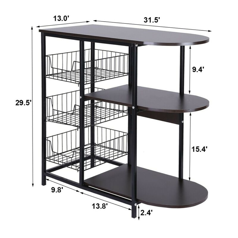 Rack Microwave Oven Stand Workstation