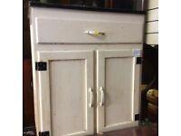 Vintage retro kitchen cupboard