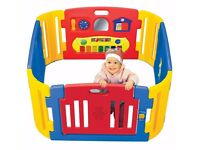 Little Playzone Playpen w/ Electronic Lights and Sounds Play Yard, 8 piece.