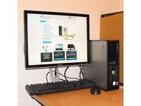 Dell 760 Windows 10 PC Dual Core Desktop Computer Complete 2GB RAM 160GB HDD Microsoft Office