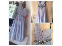 2 BNWT grey little mistress bridesmaid dresses