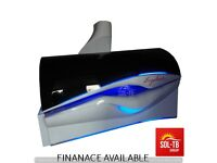 COMERCIAL SUNBED ERGOLINE 600 AVANTGARDE LUX , BREEZE , MP-3 (WHITE AND BLACK)