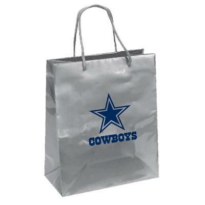 Dallas Cowboys Elegant Foil Gift Bag [NEW] NFL Wrapping Present Paper Birthday