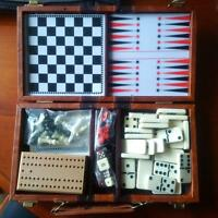 Mini Backgammon, Cribbage, Dominoes and Chess!!