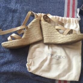 Pre-loved Jimmy Choo wedge espadrilles UK 5
