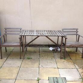 Ikea Garden Table 4 Chairs