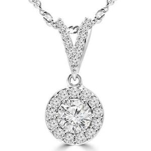 PENDENTIF EN DIAMANTS AVEC CHAÎNE EN OR 14K  .60 CARAT TOTAL / 14K GOLD NECKLACE WITH DIAMONDS .60 CTW