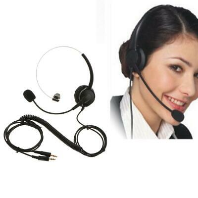 Telefon Headset 2,5 mm Noise Cancelling mit Mic Overhead für Call Center (Call Center Telefon Headset)