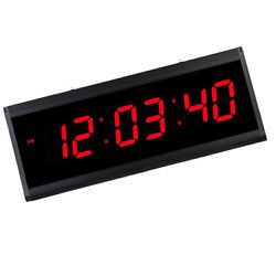 Big LED High Brightness Hanging Digital Wall Clock Large Time Display-Red
