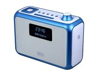 DAB+ Clock Radio Bluetooth Speaker August MB400 Bluetooth, DAB, FM or MP3 Music - Portable or Mains