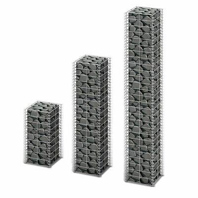 vidaXL 3x Gabions Garden Wall Stone Galvanized Wire 50/100/150 cm Basket Mesh