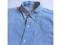 NEW J.CREW J CREW THIN BLUE STRIPED L/S OXFORD SHIRT - S