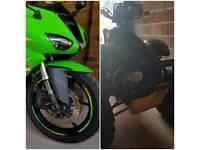 Kawasaki zx6r ninja motorbike car swap px . Polaris scrambler quad