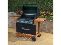 3 burner GAS BBQ (barely used) with gas tank and cover