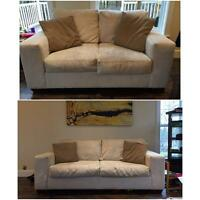 Microfibre Couch and Loveseat