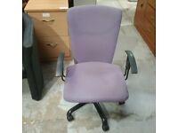 Sitag International pedestal chair in purple