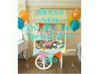 Candy Cart Hire £60, Popcorn Machine, Candy Floss & Slush Machine hire, Helium Balloons £4
