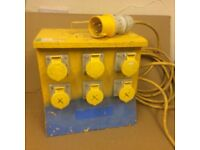 110v 6 way distribution box with circuit breaker