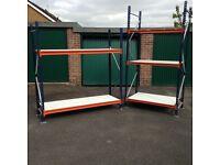 Heavy duty racking / shelving - ideal for warehouse , workshop , garage