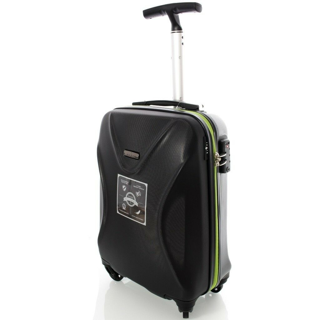 """20"""" S Modern Suitcase ABS+CARBON black/green"""
