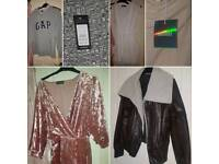 Size 12/14 RiverIsland Missguided PLT New Look Gap Clothing bundle