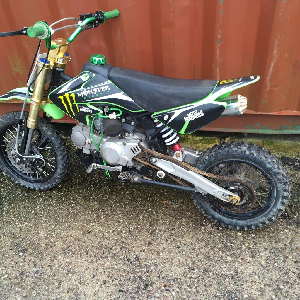 2016 moto madness 125cc pit bike in bootle merseyside gumtree. Black Bedroom Furniture Sets. Home Design Ideas