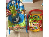 Baby bouncy chair and walker