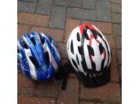 Bike helmets man and women's.