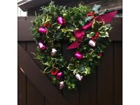 Hand made christmas wreaths and tributes