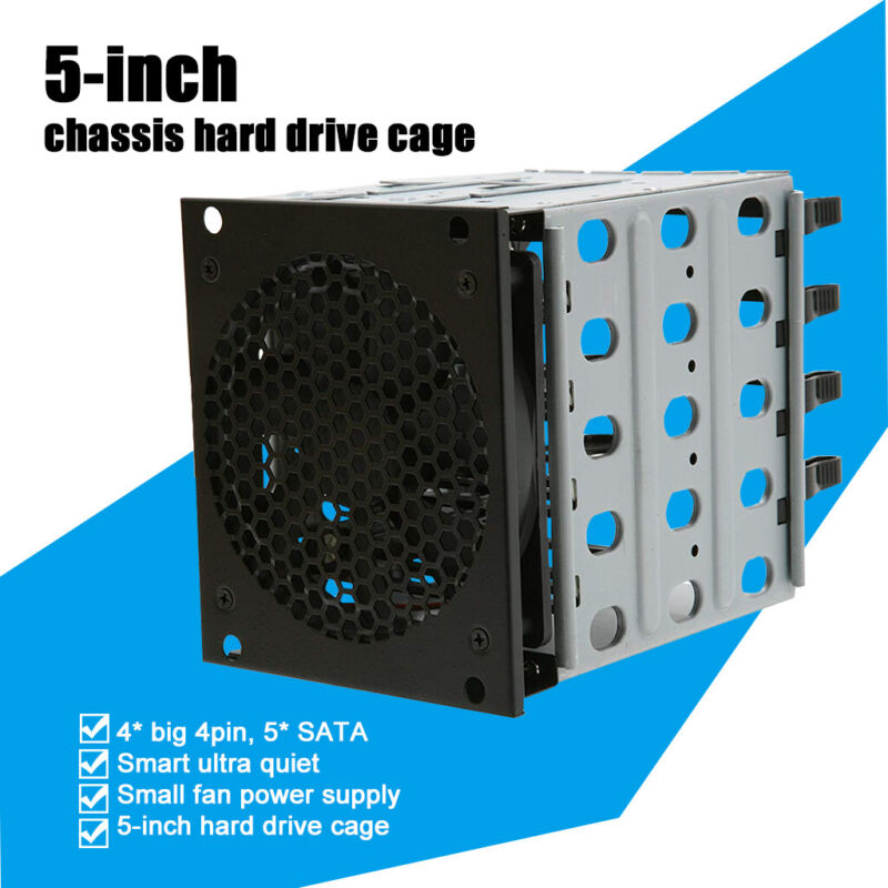 Hard Drive Caddy Cage Chassis Rack 3x 5.25