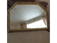 Antique look gilt frame mirror