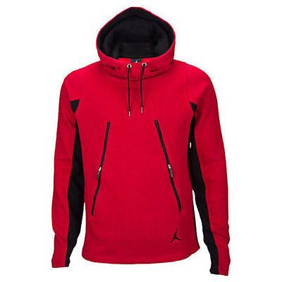 Jordan Mens Classic Fleece (NIKE Jordan Jumpman Classic Red Black Fleece Hoodie 813032 687 Mens XXL / 2XL)