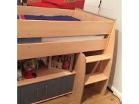 Cabin bed with table