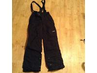 Black ski trousers - men size M