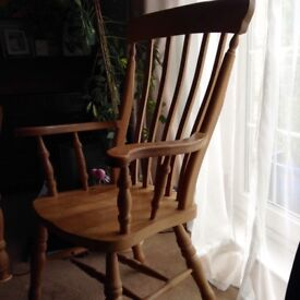 2 antique pine Carver chairs sold as a pair