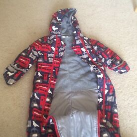 Waterproof Boys London print snowsuit 12-18 months from Boden - immaculate condition