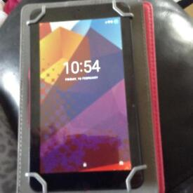 Alba tablet with case as new used once