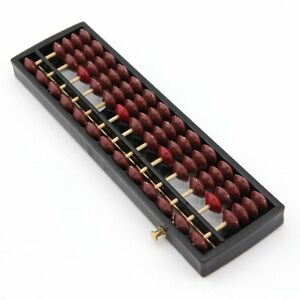 Portable Japanese 13 Column Abacus Arithmetic Soroban School Math Learning Tool