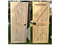 Solid Wood Farmhouse Door