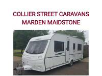 2008 4 berth fixedbed caravan + movers + awning coachman pastiche 535/4