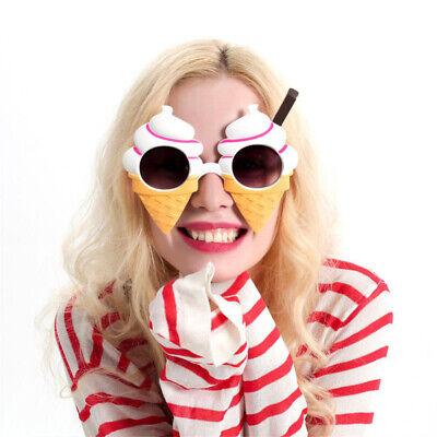 Lustige Party Sonnenbrille Eis Kegel geformte Augen Brille Kostüm Foto
