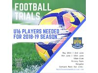 U16 Players (going in to Yr 11) needed for Reigate Priory Football Club