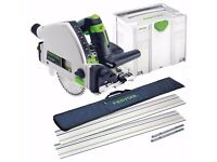 Full Set FESTOOL TSC 55 Cordless Plunge Saw with Guide Rails