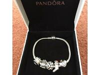 Genuine Pandora Bracelet with 5 Charms