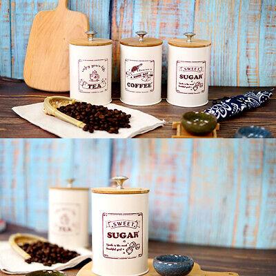 3-Piece Kitchen Canister Set - Coffee, Sugar, and Tea Storag