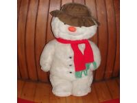 ORIGINAL 1985 VINTAGE THE SNOWMAN CHRISTMAS LARGE SOFT TOY DECORATION, RAYMOND BRIGGS