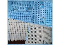 Pram blue cover blanket with ribon