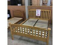 4'6 Double Serene Eleanor wooden bed frame - ex-display